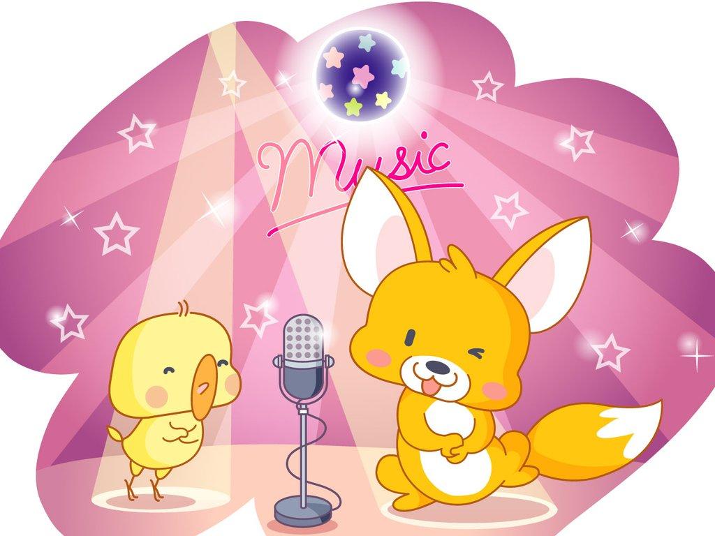 卡通 可爱 动物 狐狸