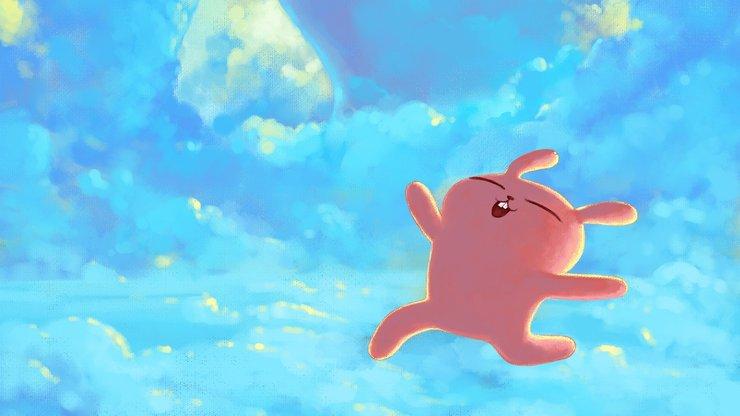 安卓动漫 卡通 插画 可爱 冷兔 奔跑手机壁纸