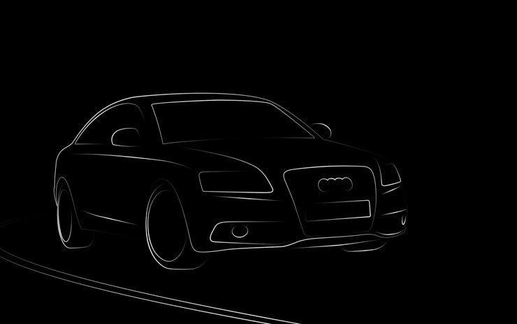 汽车手绘手机壁纸