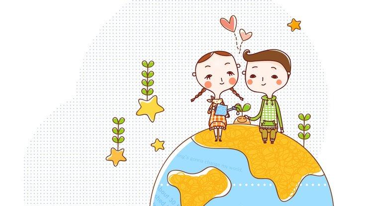 android安卓拯救 地球 可爱 卡通高清手机壁纸免费