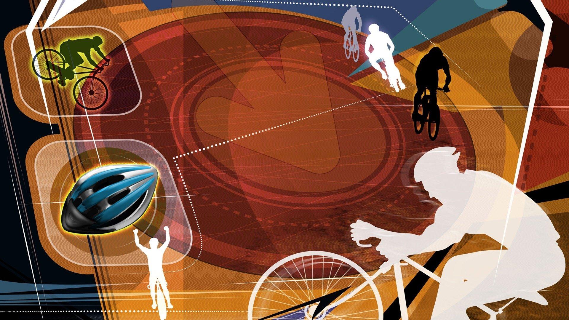 体育运动项目手绘_