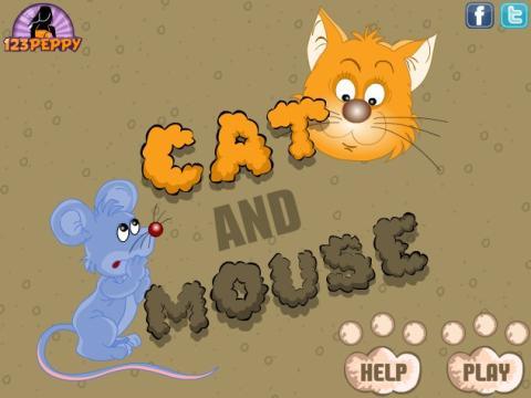 猫抓老鼠手绘图