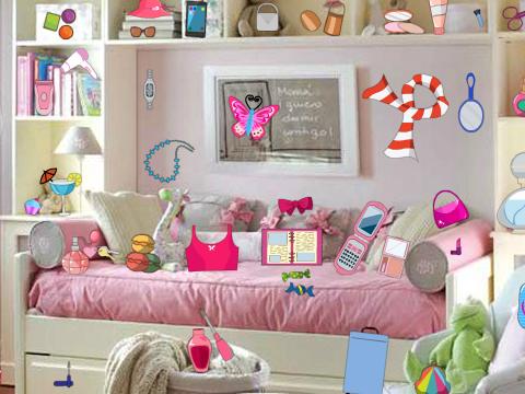 女孩的房间找东西