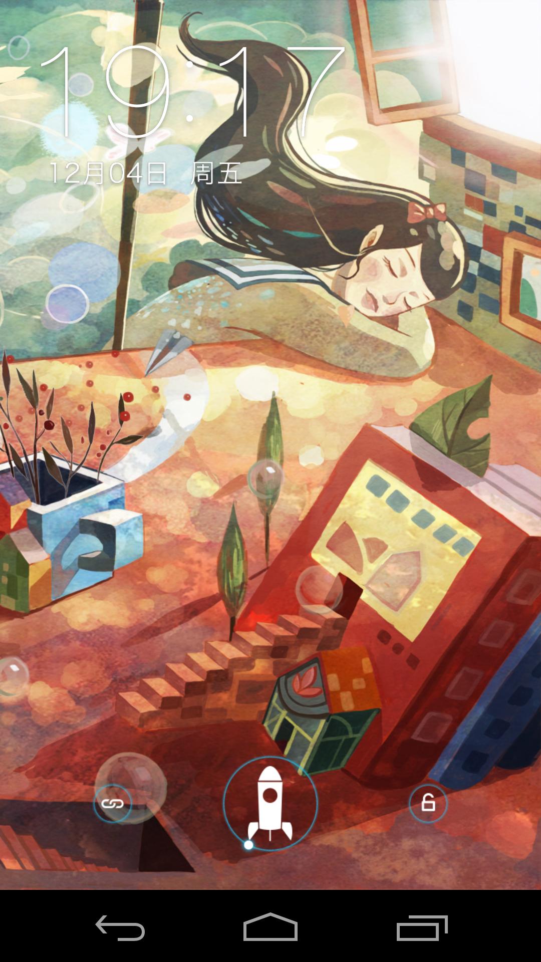 手绘书桌卡通背景