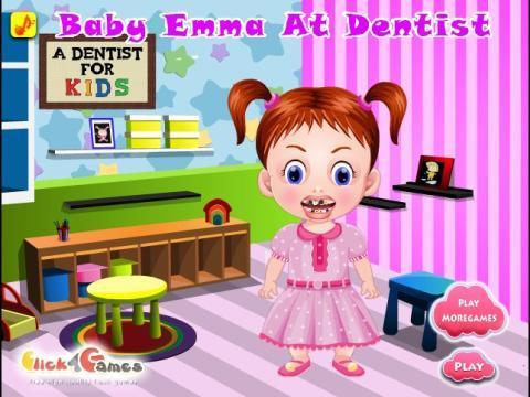 可爱宝贝的牙齿