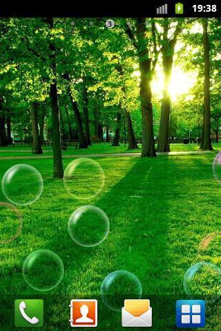 搭配可爱多彩的透明泡泡   漂浮特效,界面清新可爱,有别于以往单一